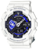 G-Shock S Series White Resin Watch, GMAS110CW7A3