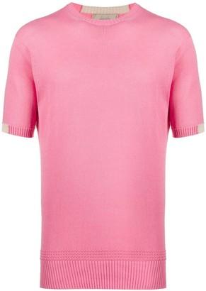 Maison Flaneur knitted colour block T-shirt
