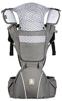 Kiddihug Koala quality ergonomic 4 in 1 baby carrier with hip-seat. Performance with comfort. Gray.