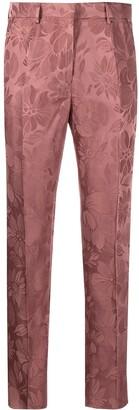 Etro Floral Jacquard Slim-Fit Trousers