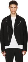 Issey Miyake Black A-POC Knit Biker Jacket