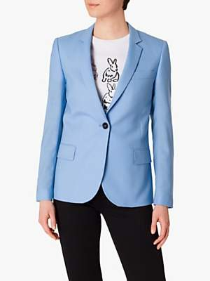 Paul Smith Single Button Wool Blazer, Sky Blue
