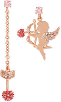 Betsey Johnson Rose Gold-Tone Cupid-and-Arrow Mismatched Drop Earrings