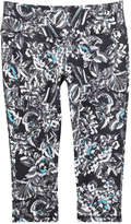 Joe Fresh Women's Print Crop Active Legging, Light Teal (Size XS)