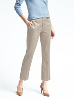Banana Republic Avery-Fit Solid Sateen Pant