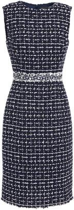 Oscar de la Renta Frayed Boucle-tweed Dress