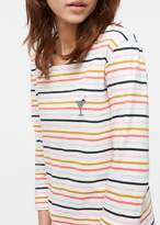 Chinti \u0026 parker Chinti & Parker Long Sleeve Breton Top In Ecru Multi