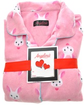 Angelina Pink Bunny Fleece Pajama Set - Plus Too