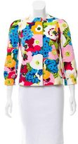 Moschino Floral Collarless Jacket