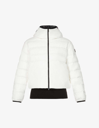 Moncler Anwar funnel-neck stretch-shell and down jacket