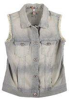 XhilarationTM Girls' Stripe Print Fashion Vest Blue - Xhilaration