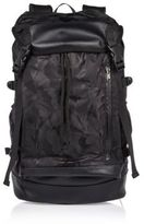 River Island Black Camo Drawstring Backpack