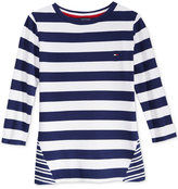Tommy Hilfiger Striped 3/4-Sleeve T-Shirt, Big Girls (7-16)