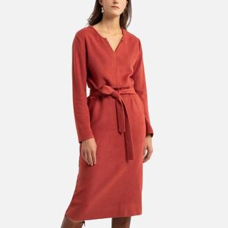 Anne Weyburn Tie-Waist Midi Dress