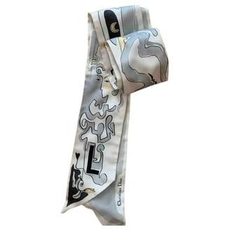 Christian Dior Grey Silk Scarves