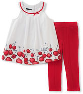 Tommy Hilfiger Two-Piece Woven Cherry Tunic and Capri Pants Set