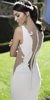 Tarik Ediz Beaded Sheer Cutout Evening Dress