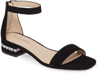 Pelle Moda Nicole Crystal Heel Sandal