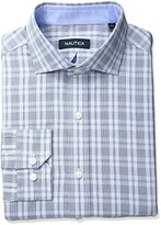 Nautica Men's Check Shirt with Winsford Cutaway Collar