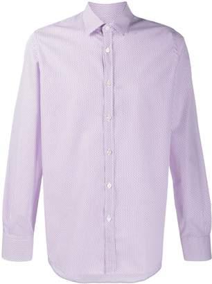 Canali micro-geometric print shirt