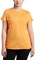 Southpole BASIC Juniors Plus-Size Solid Color Crew Neck Tee