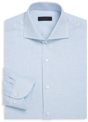 Saks Fifth Avenue Classic-Fit Checkered Cotton Dress Shirt