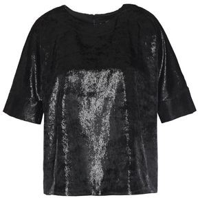 J Brand Daisy Metallic Velvet Top