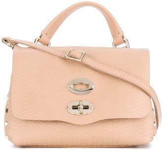 Zanellato foldover satchel with gold-tone hardware details