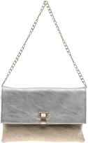 Sondra Roberts Silver And Gold Clutch
