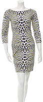 Just Cavalli Long Sleeve Leopard Print Dress