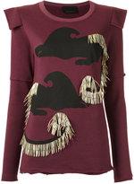 Andrea Bogosian - embellished sweatshirt - women - Cotton/Polyester - P