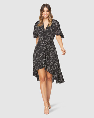 Pilgrim Women's Black Midi Dresses - Aisha Midi Dress - Size One Size, 10 at The Iconic