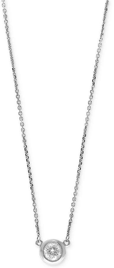 Effy Diamond Bezel Pendant Necklace (3/8 ct. t.w.) in 14k White, Yellow, or Rose Gold