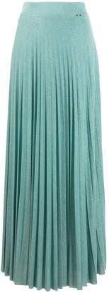 Liu Jo Metallic Pleated Maxi Skirt