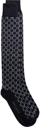 Dolce & Gabbana Square-Logo Intarsia-Knit Socks