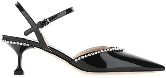 Miu Miu Patent Crystal Detail Pumps