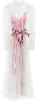 Zimmermann Butterfly Embroidered Lace Maxi Dress