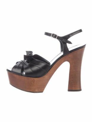 Saint Laurent Candy 80 Platform Sandals Black
