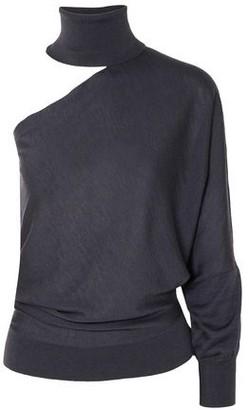 Brunello Cucinelli One-shoulder Cutout Cashmere And Silk-blend Turtleneck Sweater