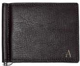 Cathy's Concepts Men's Monogram Leather Wallet & Money Clip - Black