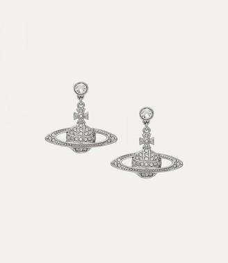 Vivienne Westwood Mini Bas Relief Drop Earrings Silver-Tone