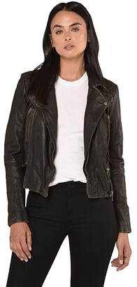 AllSaints Cargo Biker (Black/Grey) Women's Clothing