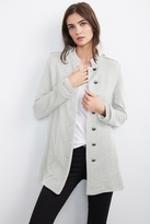 Evalyn French Terry Military Coat