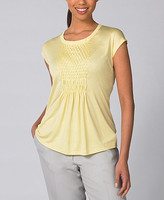 Collection Smocked Silk Scoopneck