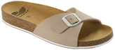 Scholl Spikey Mule Sandals, Beige/White