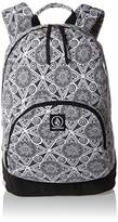 Volcom Schoolyard Canvas Backpack Rucksack, Women's Backpack, Schwarz (), 15x43x30 cm (B x H T)