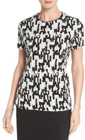 BOSS Women's 'Enzina' Print Short Sleeve Jersey Top