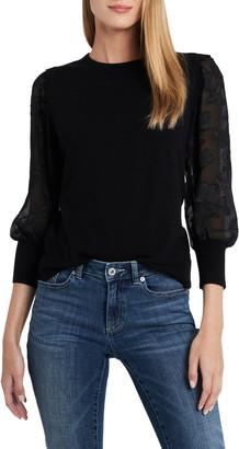 CeCe Illusion Sleeve Sweater