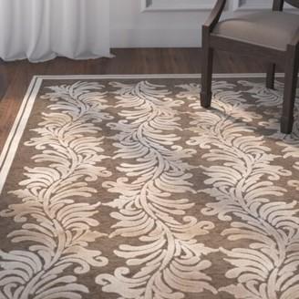 "Martha Stewart Plume Hand-Tufted Beige/Brown Area Rug Rug Size: Rectangle 2'7"" x 4'"