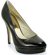 Michael Kors Michael by York - Black Leather Platform Pump
